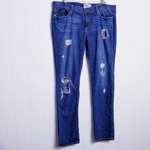 PAIGE Jimmy Jimmy Skinny Distressed Patched Jeans